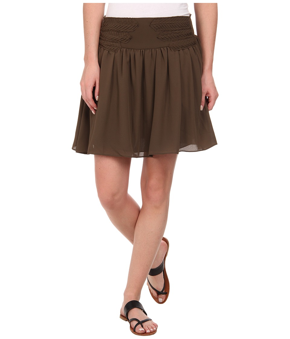 Sam Edelman Fit and Flare Skirt (Canteen) Women