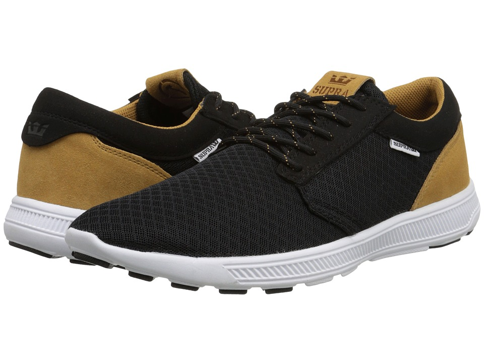 Supra - Hammer Run (Black/Brown/White) Men's Skate Shoes