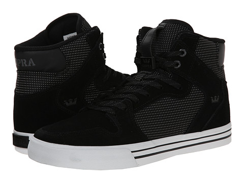 Supra - Vaider (Black/White/Woven Nylon) Skate Shoes