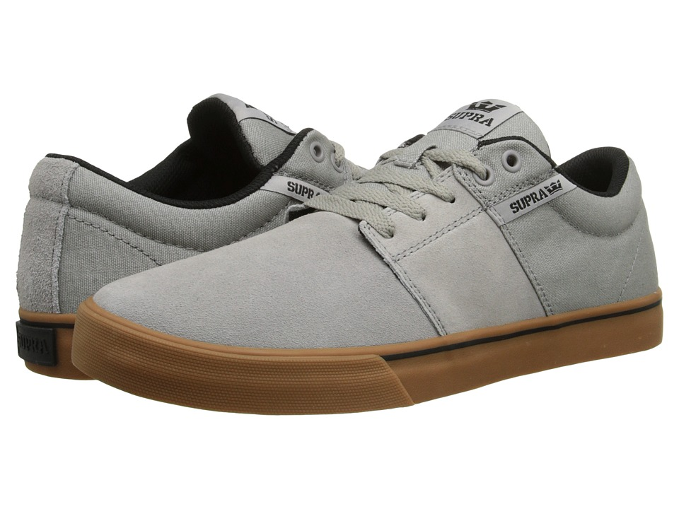 Supra - Stacks Vulc II (Grey/Gum) Men's Skate Shoes