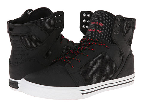Supra - Skytop (Black/Red/Textured Nubuck) Men