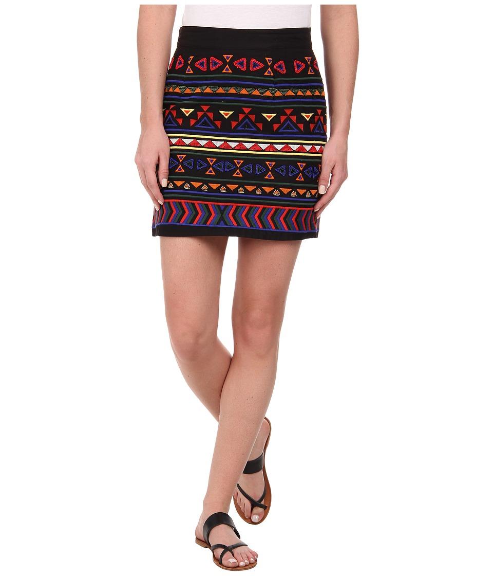Sam Edelman - Beaded Mini Skirt (Black) Women
