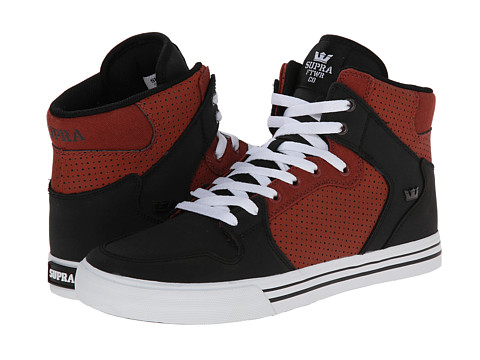 Supra - Vaider (Black/Henna/White) Skate Shoes
