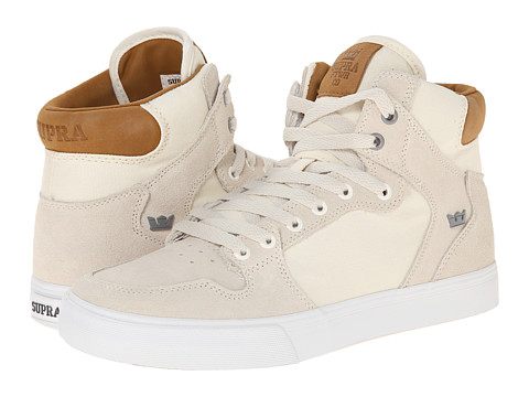 Supra - Vaider (Off White/Tan/White) Skate Shoes