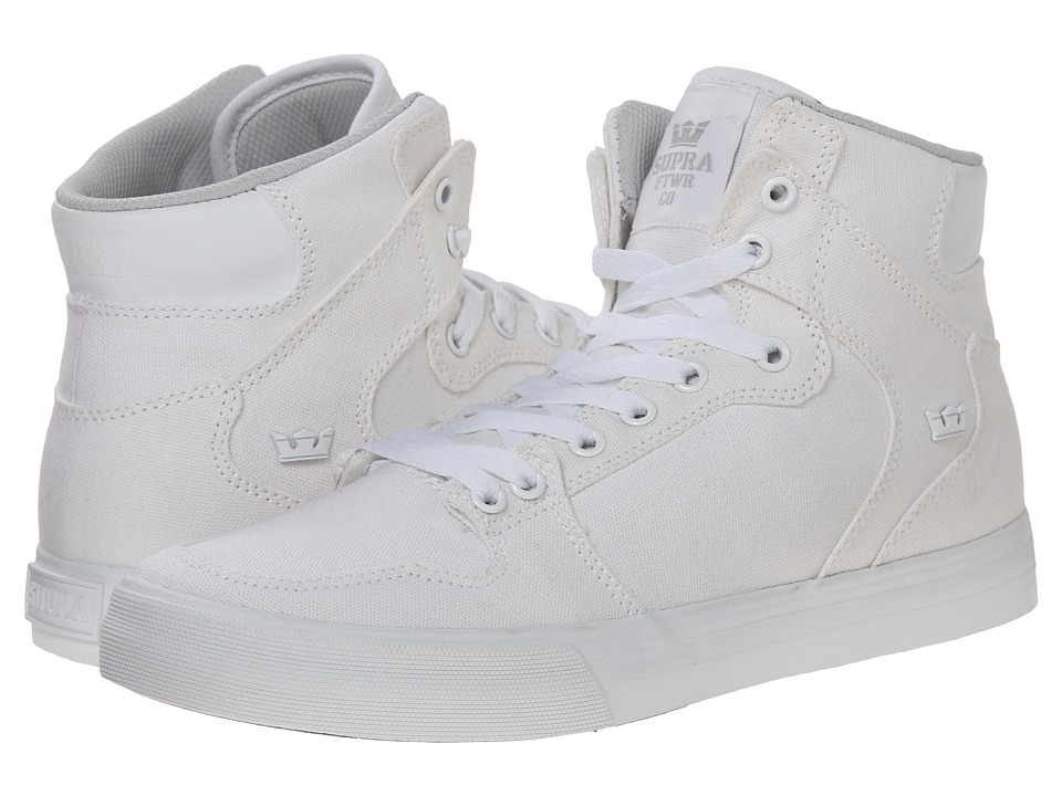 Supra - Vaider D (Off White/White) Men's Skate Shoes