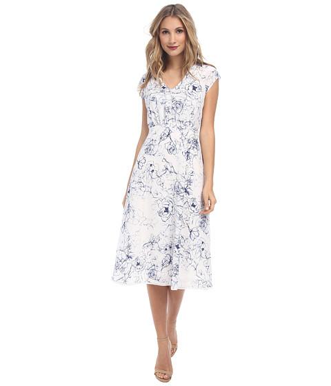 Sam Edelman - Cutout Midi Dress (Linen White) Women's Dress
