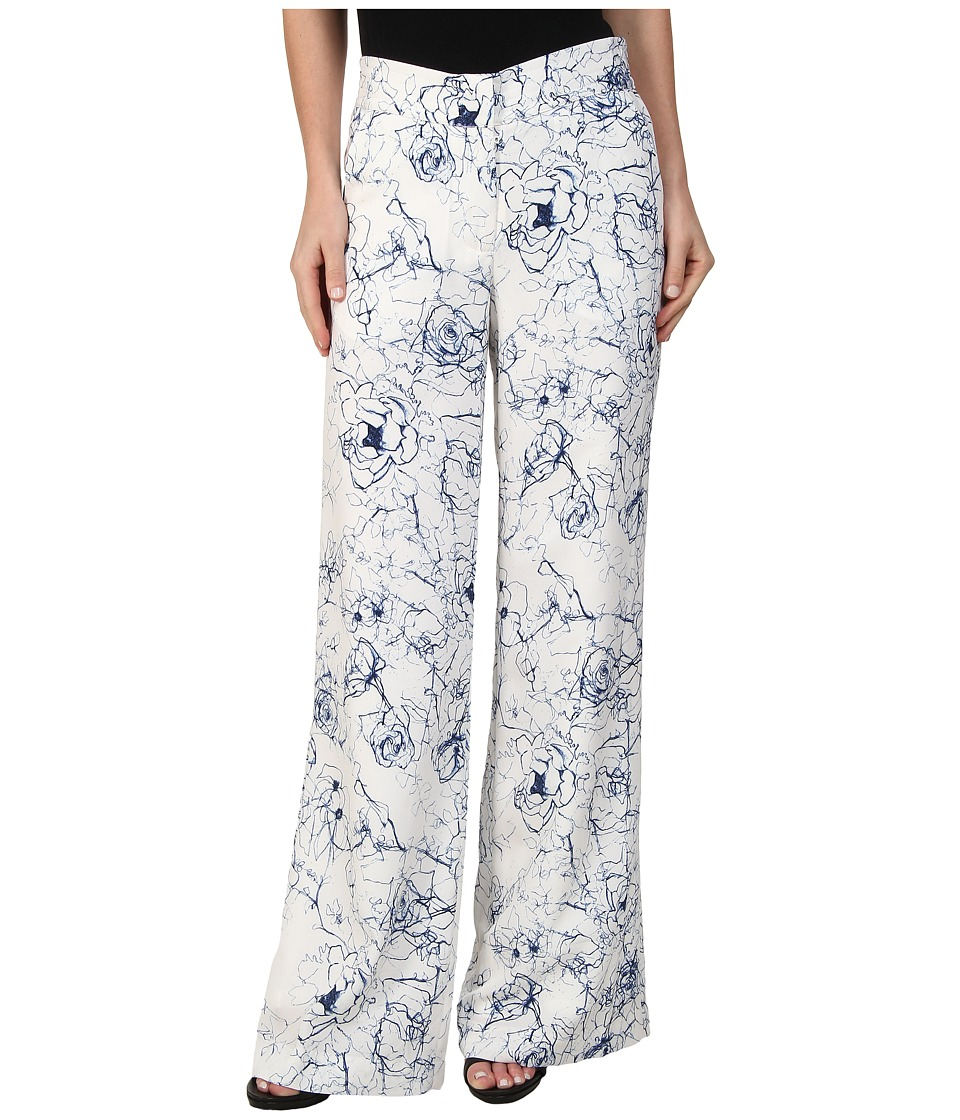 Sam Edelman - Printed Floral Trouser (Linen White) Women's Casual Pants