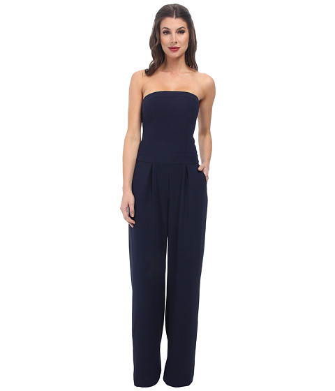 Sam Edelman - Strapless Wideleg Jumpsuit (Midnight) Women