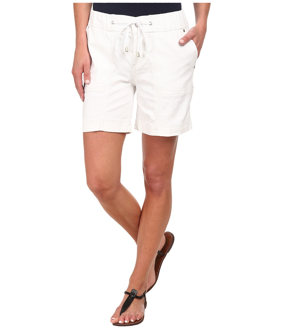 Jag Jeans - Trek Relaxed FIt Short in Gatsby Linen (White) Women's Shorts