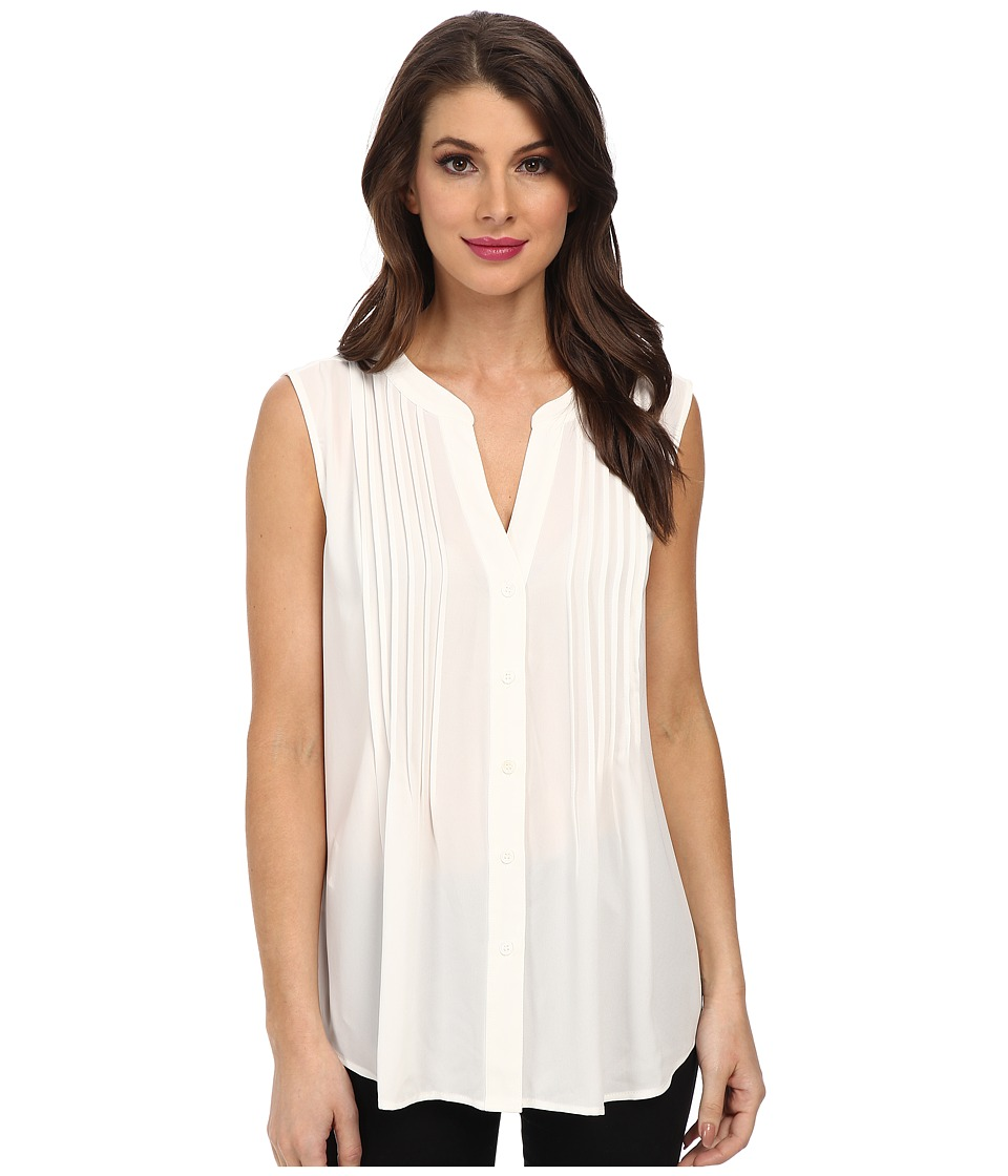 BCBGMAXAZRIA - Leanne Woven Sportswear Top (Off White) Women's Blouse