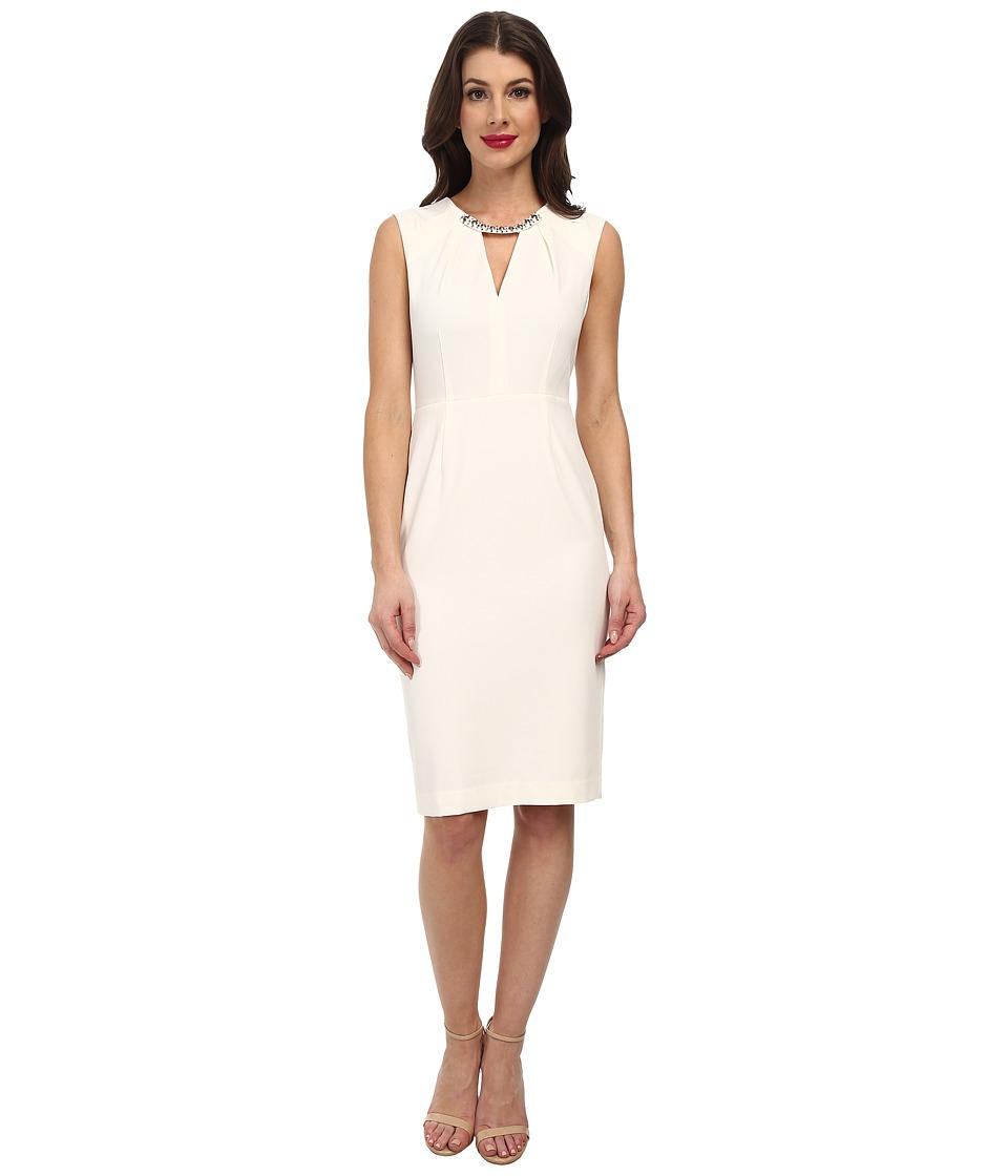 BCBGMAXAZRIA - Samantha Woven City Dress (Off White) Women's Dress
