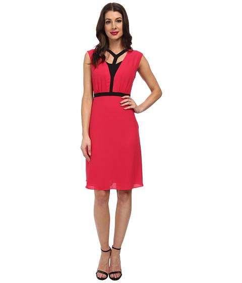 BCBGMAXAZRIA - Katryn Woven Cocktail Dress (Pink Raspberry) Women