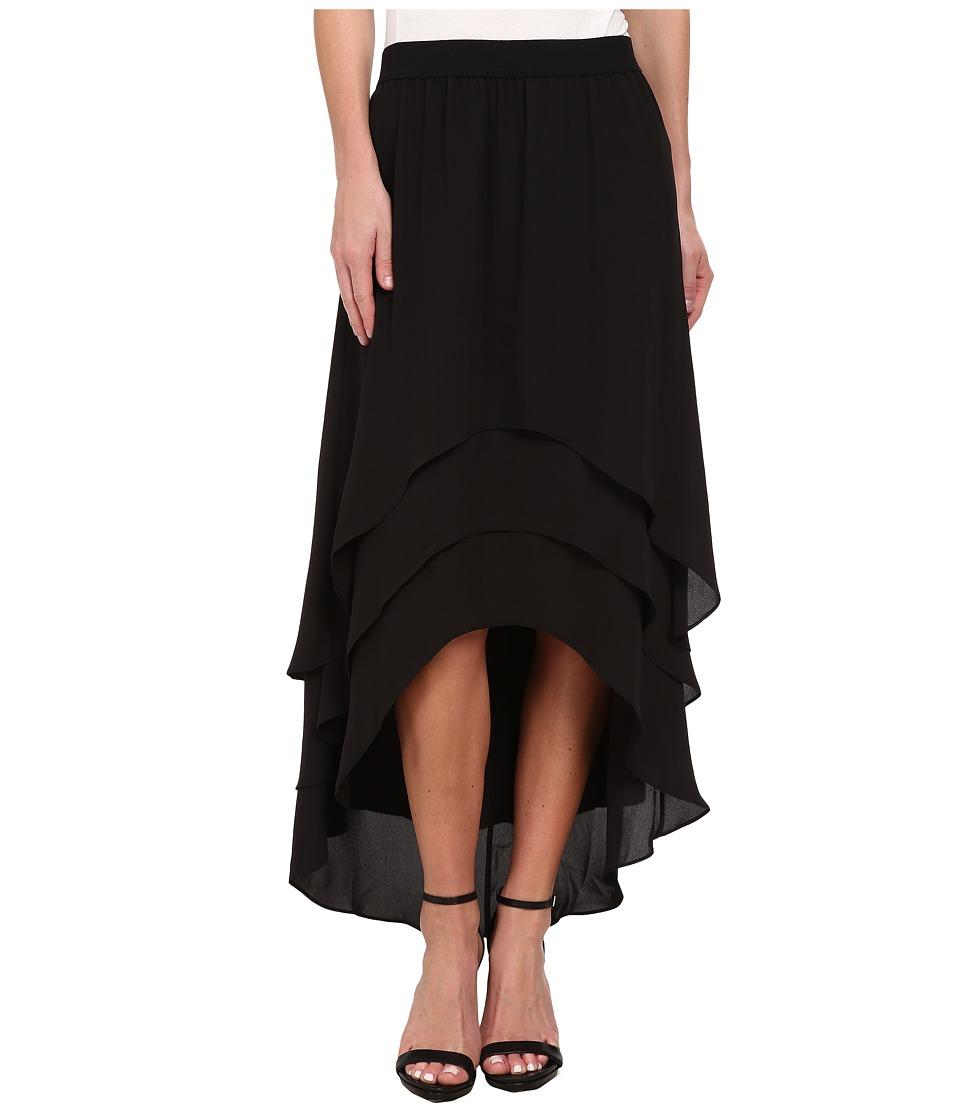 BCBGMAXAZRIA - Kristina Woven Sportswear Skirt (Black) Women's Skirt