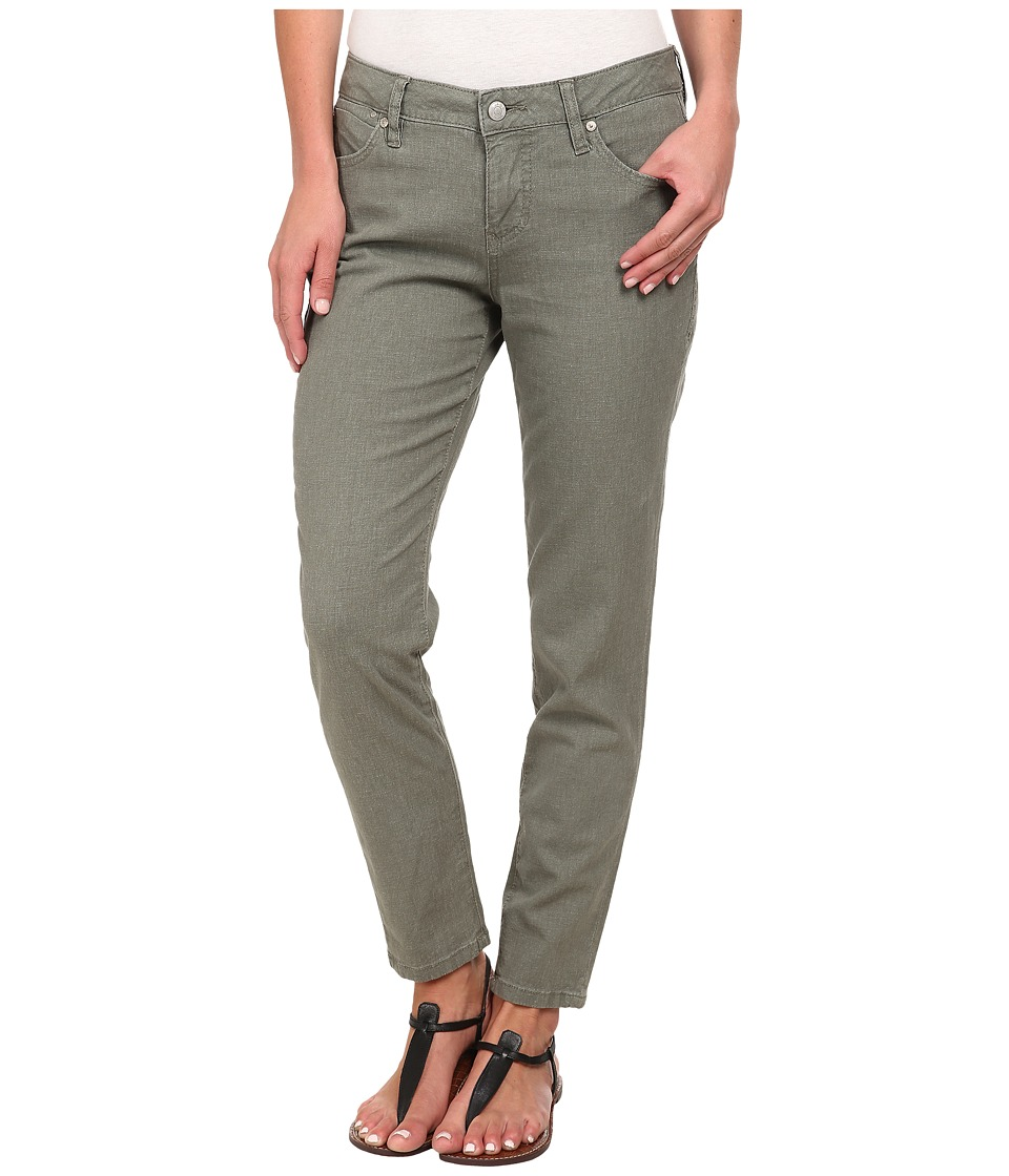 Jag Jeans - Evan Slim Ankle in Gatsby Linen (Sliver Pine) Women's Casual Pants