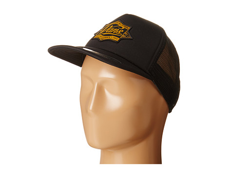 Vans - Brewed Trucker Hat (Black/Gold) Caps