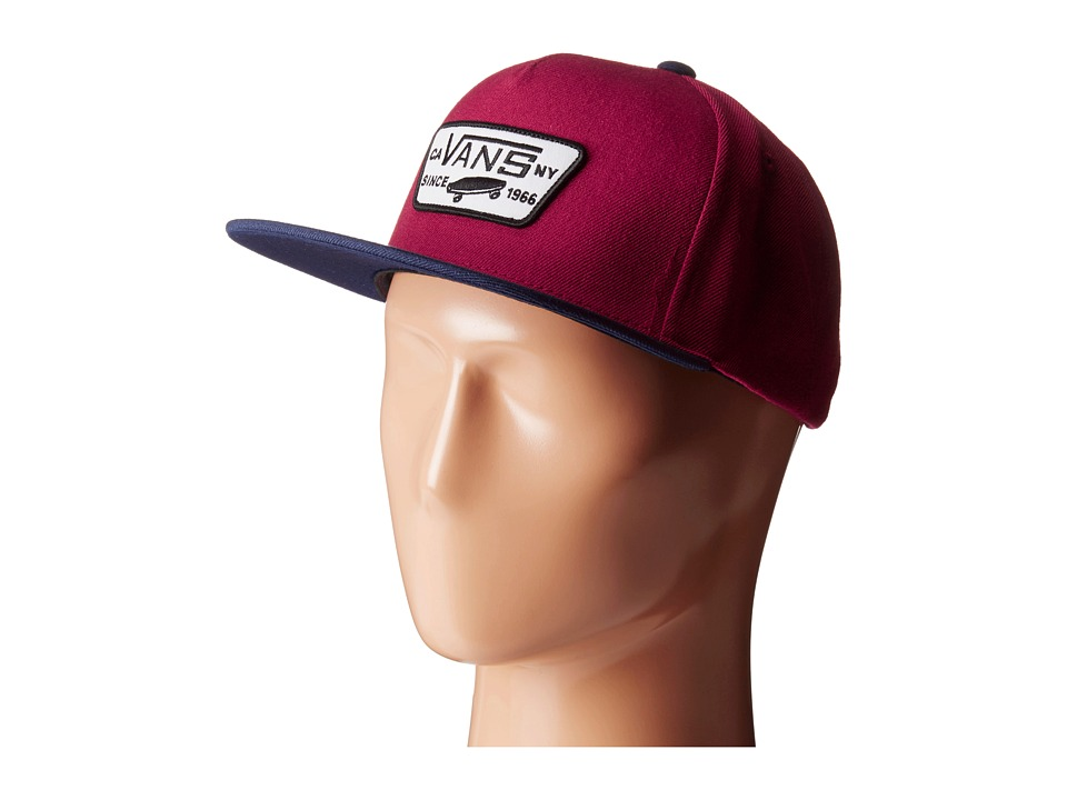 Vans - Full Patch Snapback (Beet Red/Evil Blue) Caps