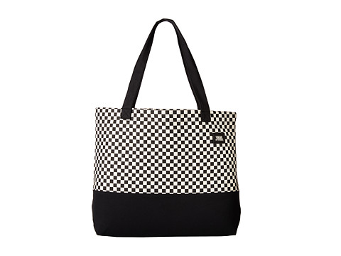 Vans - Beached Tote (Black Checkerboard) Tote Handbags