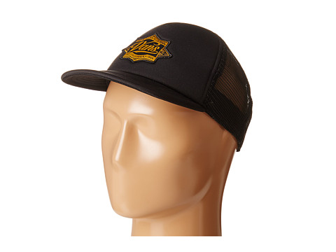 Vans - Born In Cap Trucker (Big Kids) (Black/Gold) Caps