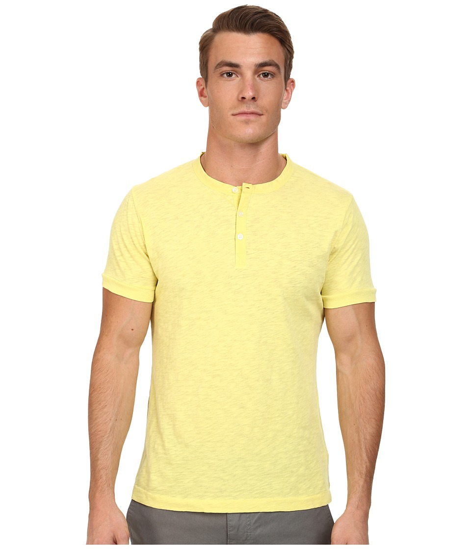 French Connection - S/S Slub Henley (Limelight) Men's T Shirt