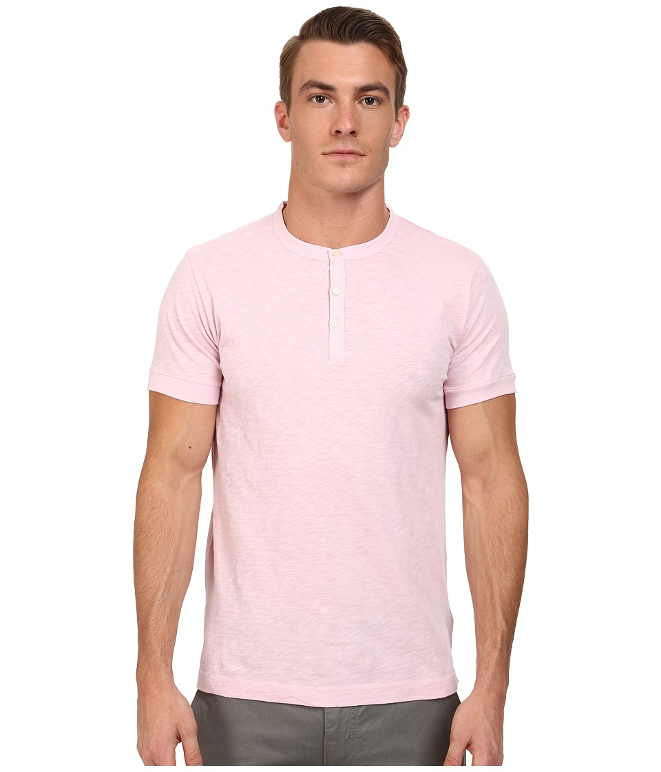 French Connection - S/S Slub Henley (Sure Pink) Men's T Shirt