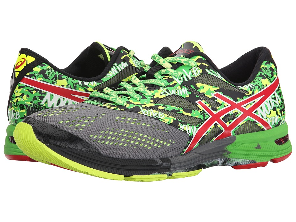 ASICS - Gel-Noosa Tri 10 (Carbon/Fiery Red/Green) Men's Running Shoes