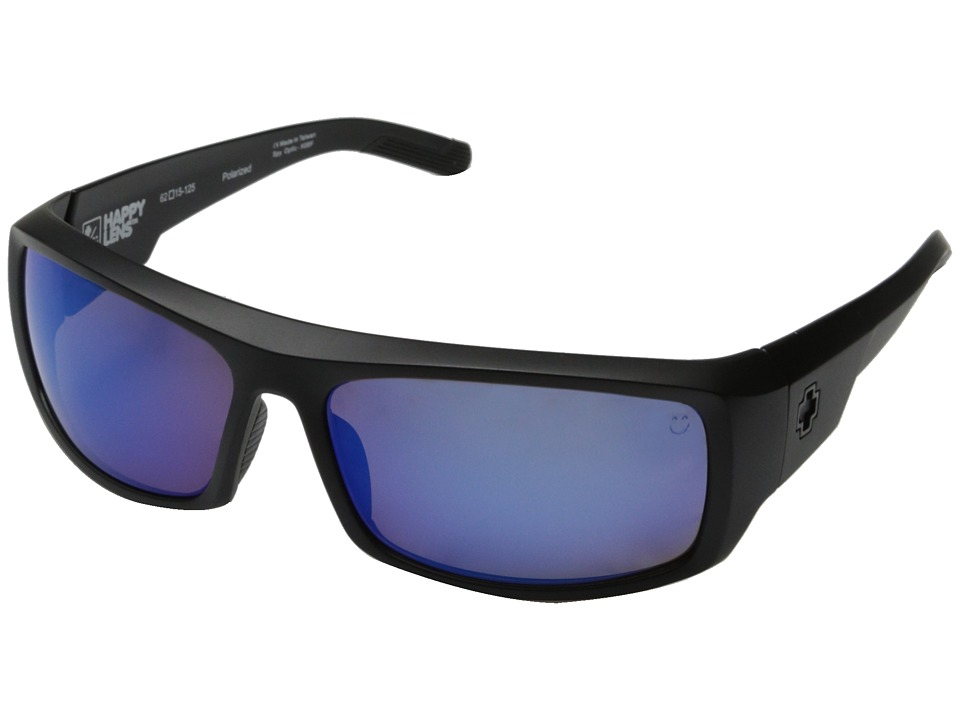 Spy Optic - Admiral (Matte Black/Happy Bronze Polar w/ Blue Spectra) Fashion Sunglasses