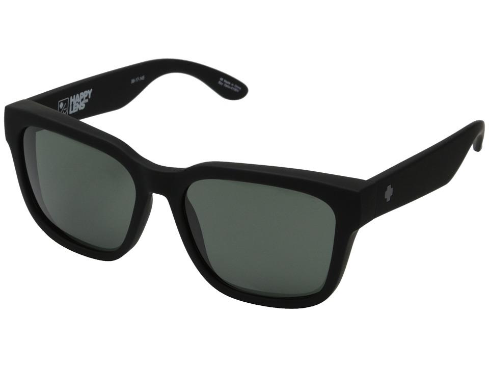 Spy Optic - Bowie (Soft Matte Black/Happy Gray Green) Fashion Sunglasses