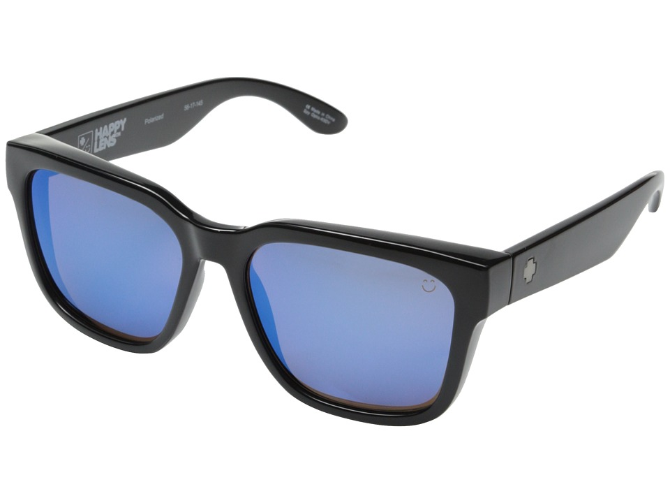 Spy Optic - Bowie (Black/Happy Bronze Polar w/ Blue Spectra) Fashion Sunglasses