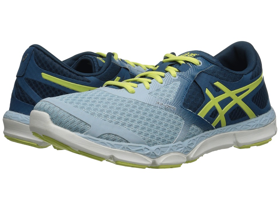 ASICS - 33-DFA (Milk Blue/Sunny Lime/Mosaic Blue) Women's Running Shoes