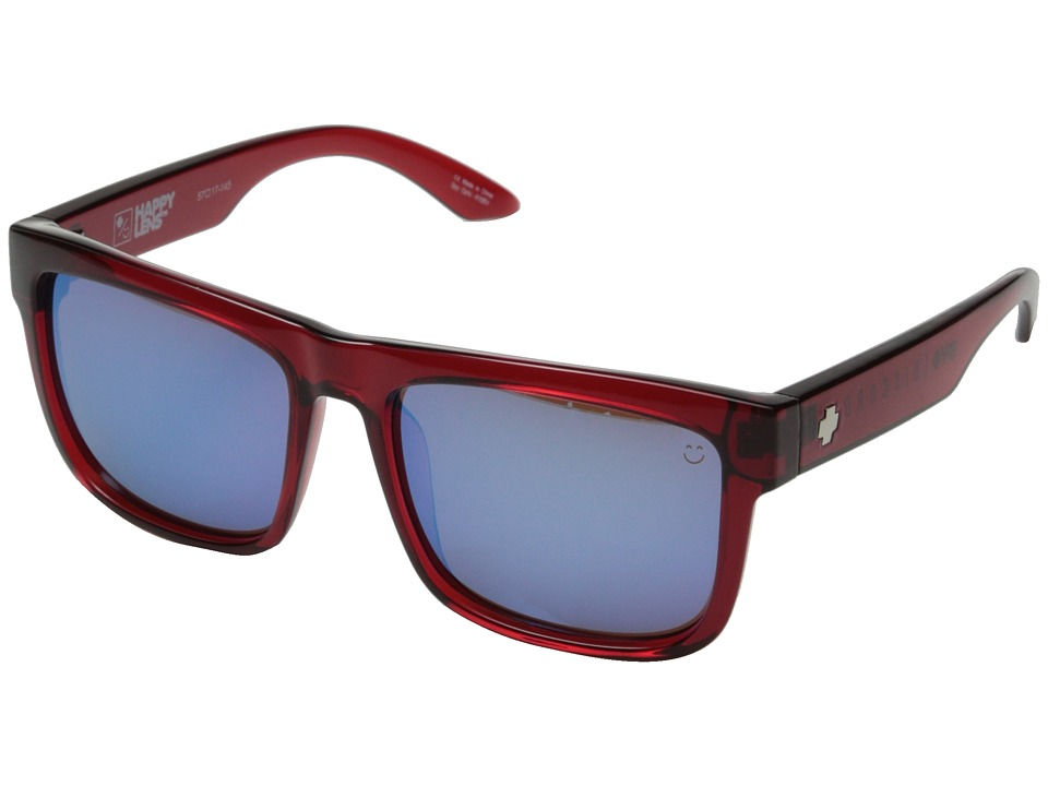 Spy Optic - Discord (Trans Red/Happy Bronze w/ Light Blue Spectra) Sport Sunglasses