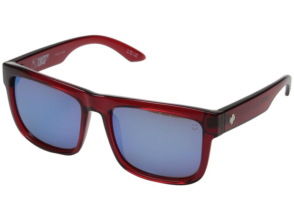 Spy Optic - Discord (Trans Red/Happy Bronze w/ Light Blue Spectra) Sport Sunglasses