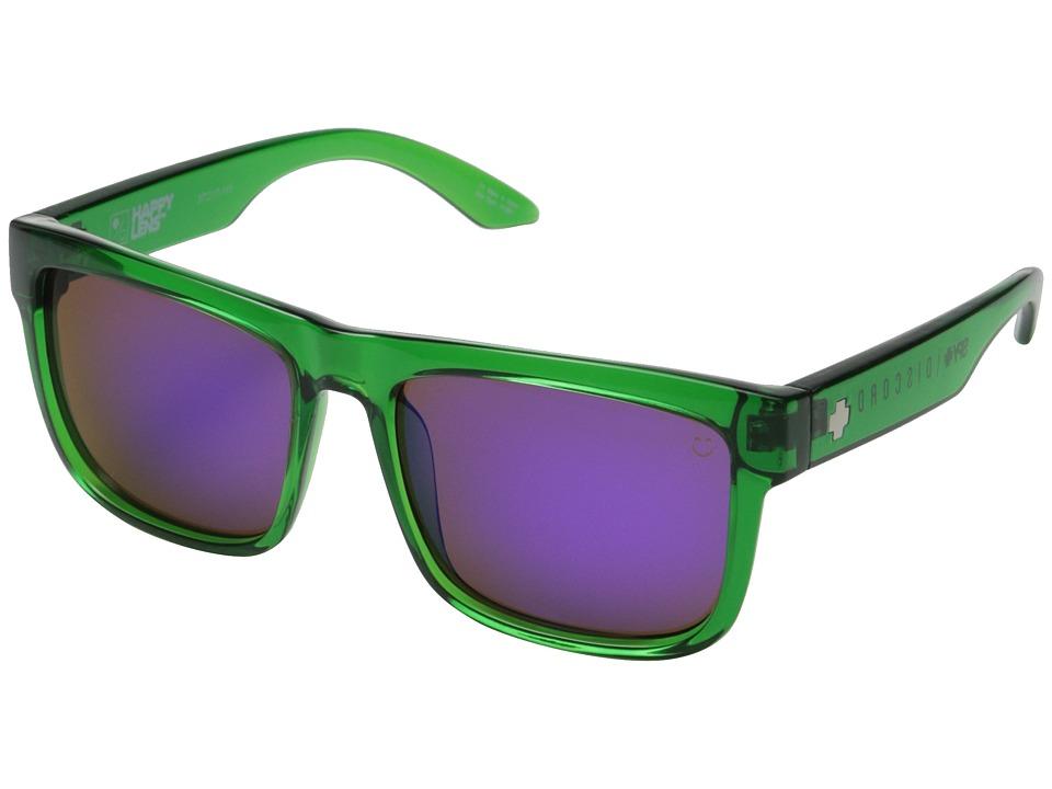 Spy Optic - Discord (Trans Green/Happy Bronze w/ Purple Spectra) Sport Sunglasses