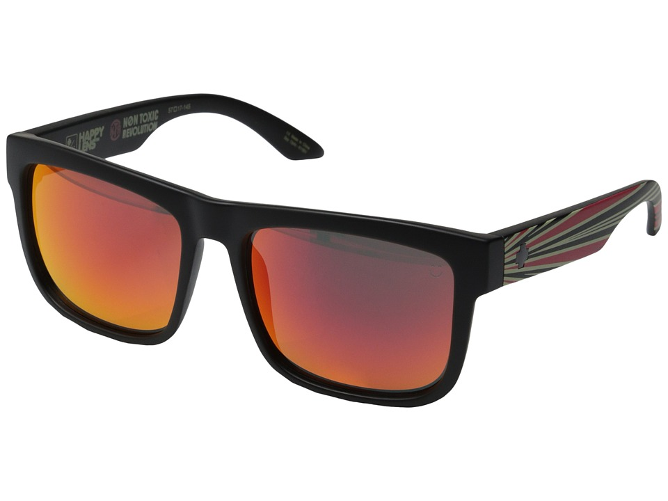 Spy Optic - Discord (Matte Black Non Toxic Revolution/Happy Gray Green w/ Red Spectra) Sport Sunglasses