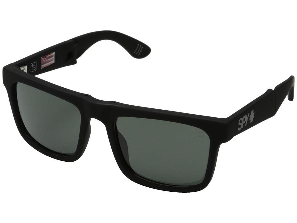 Spy Optic - The Fold (Soft Matte Black/Happy Gray Green) Sport Sunglasses