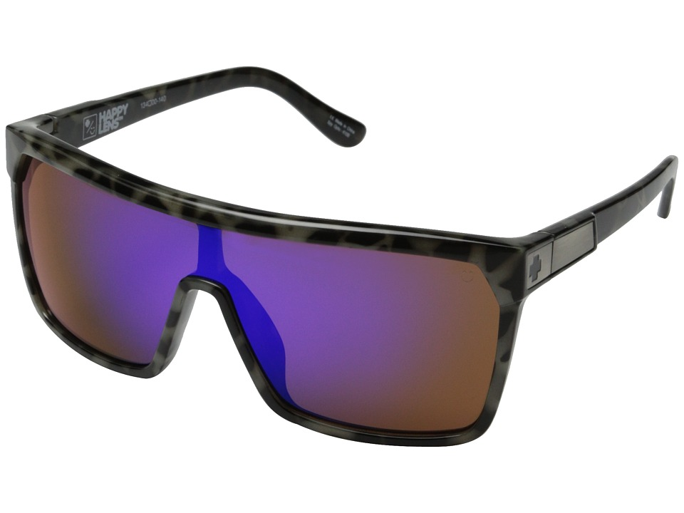 Spy Optic - Flynn (Spotted Tort/Happy Bronze w/ Purple Spectra) Sport Sunglasses