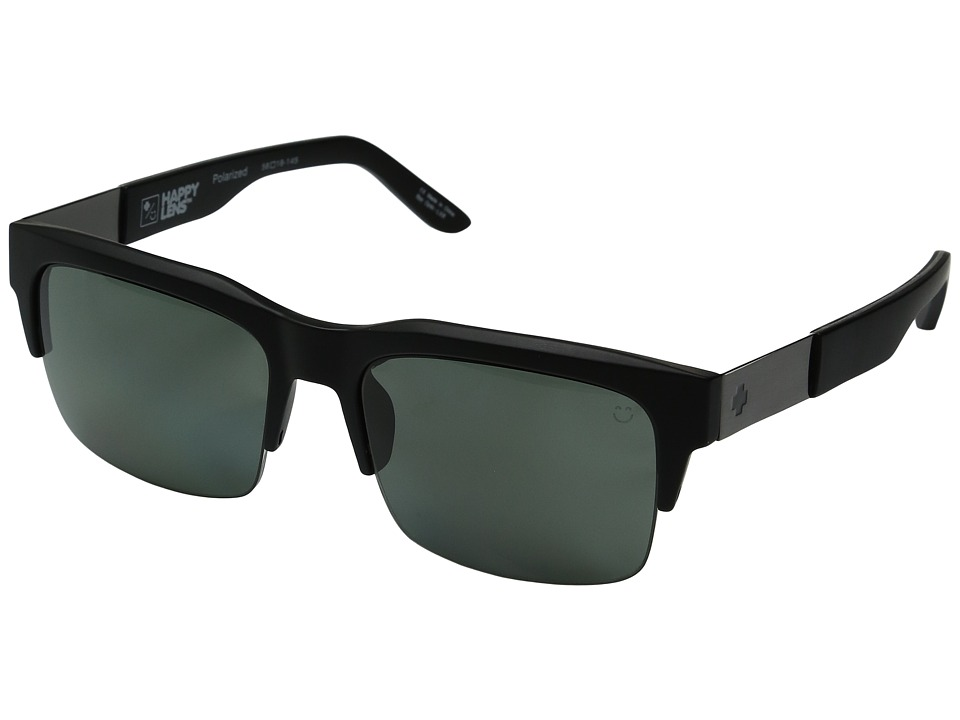 Spy Optic - Malcolm (Soft Matte Black/Happy Gray Green Polar) Fashion Sunglasses