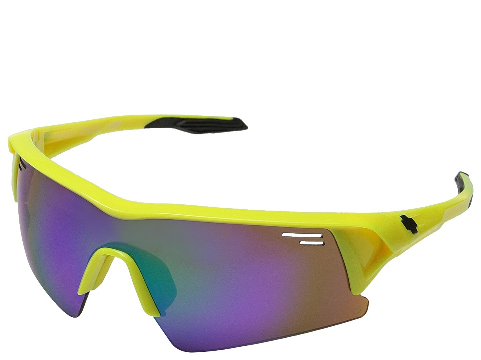 Spy Optic - Screw Over (Hi Vis/Happy Bronze w/Green Spectra) Sport Sunglasses