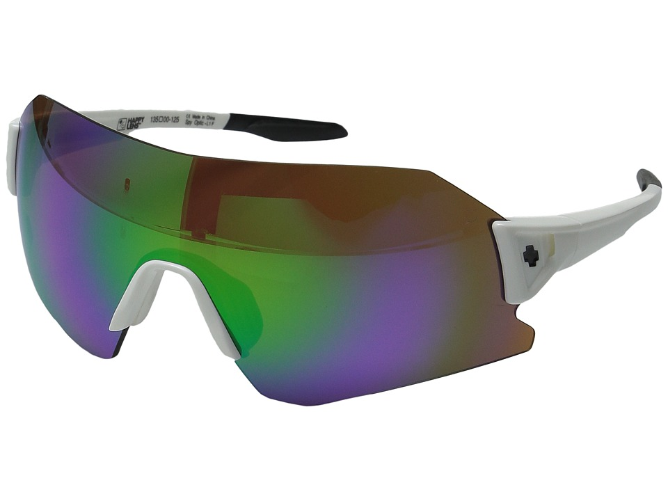 Spy Optic - Daft (White/Happy Bronze w/ Green Spectra) Fashion Sunglasses
