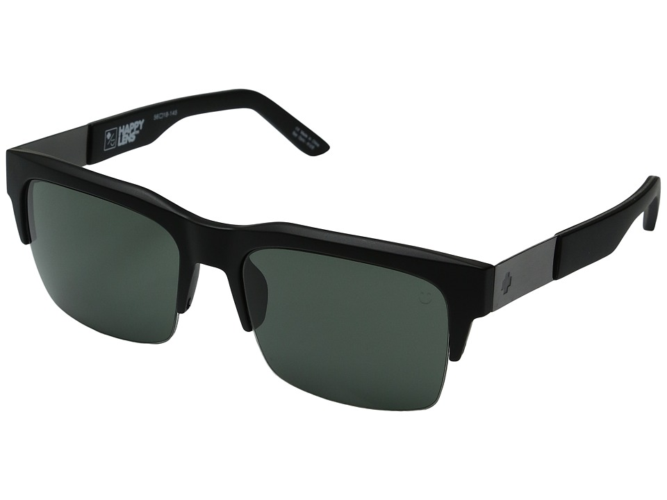 Spy Optic - Malcolm (Matte Black/Happy Gray Green) Fashion Sunglasses