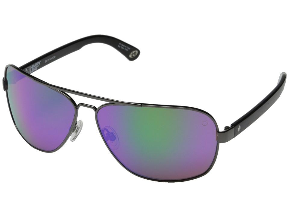 Spy Optic - Showtime (Gunmetal/Happy Bronze w/ Green Spectra) Sport Sunglasses
