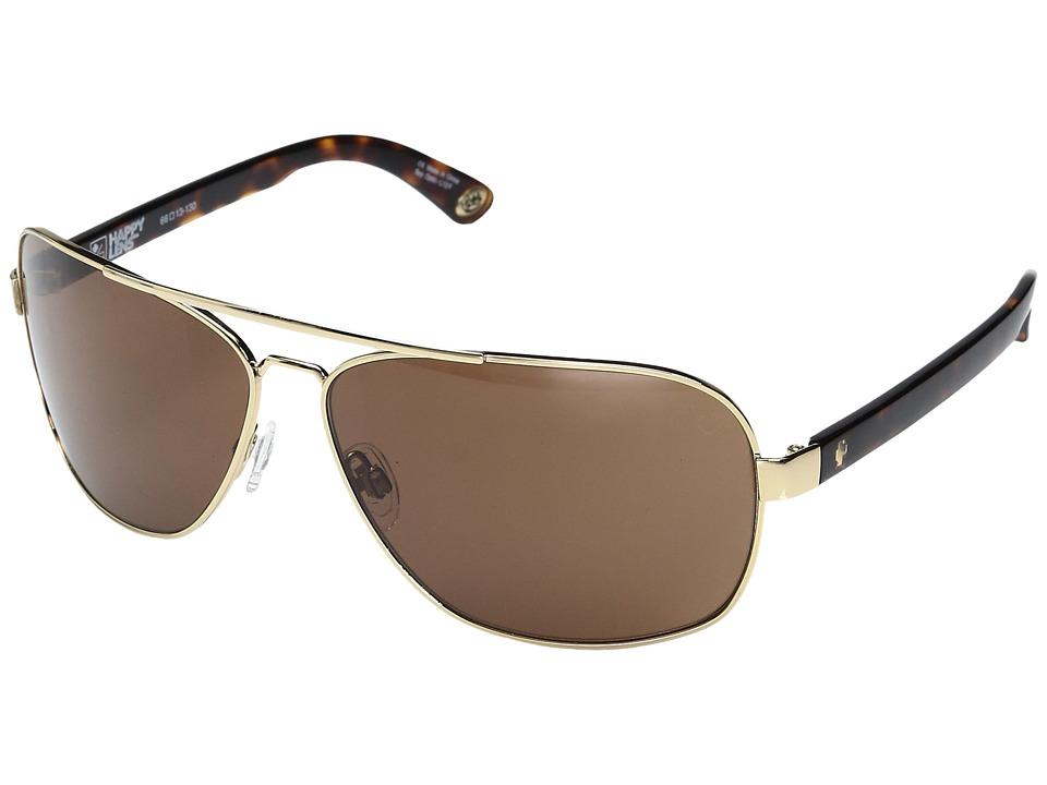 Spy Optic - Showtime (Gold w/ Classic Tort/Happy Bronze) Sport Sunglasses