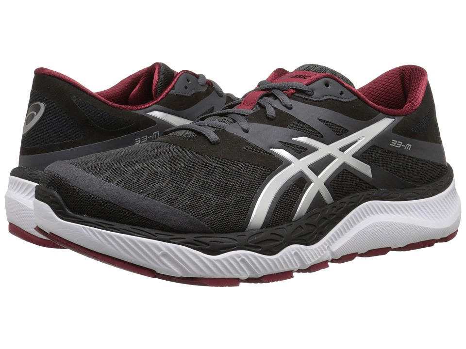 ASICS 33-M (Dark Grey/Silver/Deep Ruby) Men