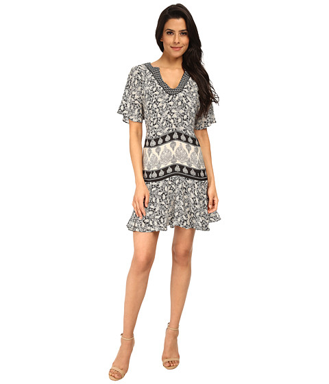 Tolani - Elise Dress (Black/White) Women's Dress