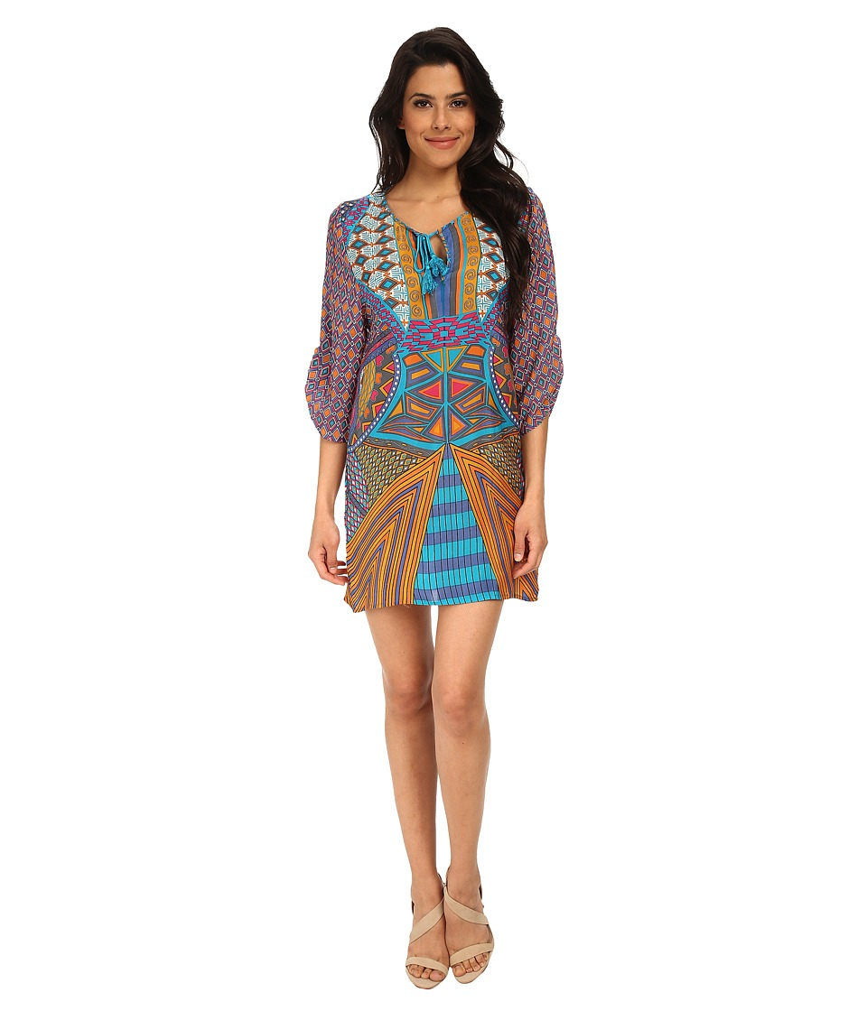 Tolani - Mila Tunic Dress (Turquoise) Women's Dress