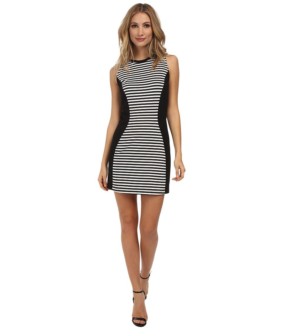 Jack by BB Dakota - Clarence Stripe and Solid Ponte Dress (Black) Women's Dress