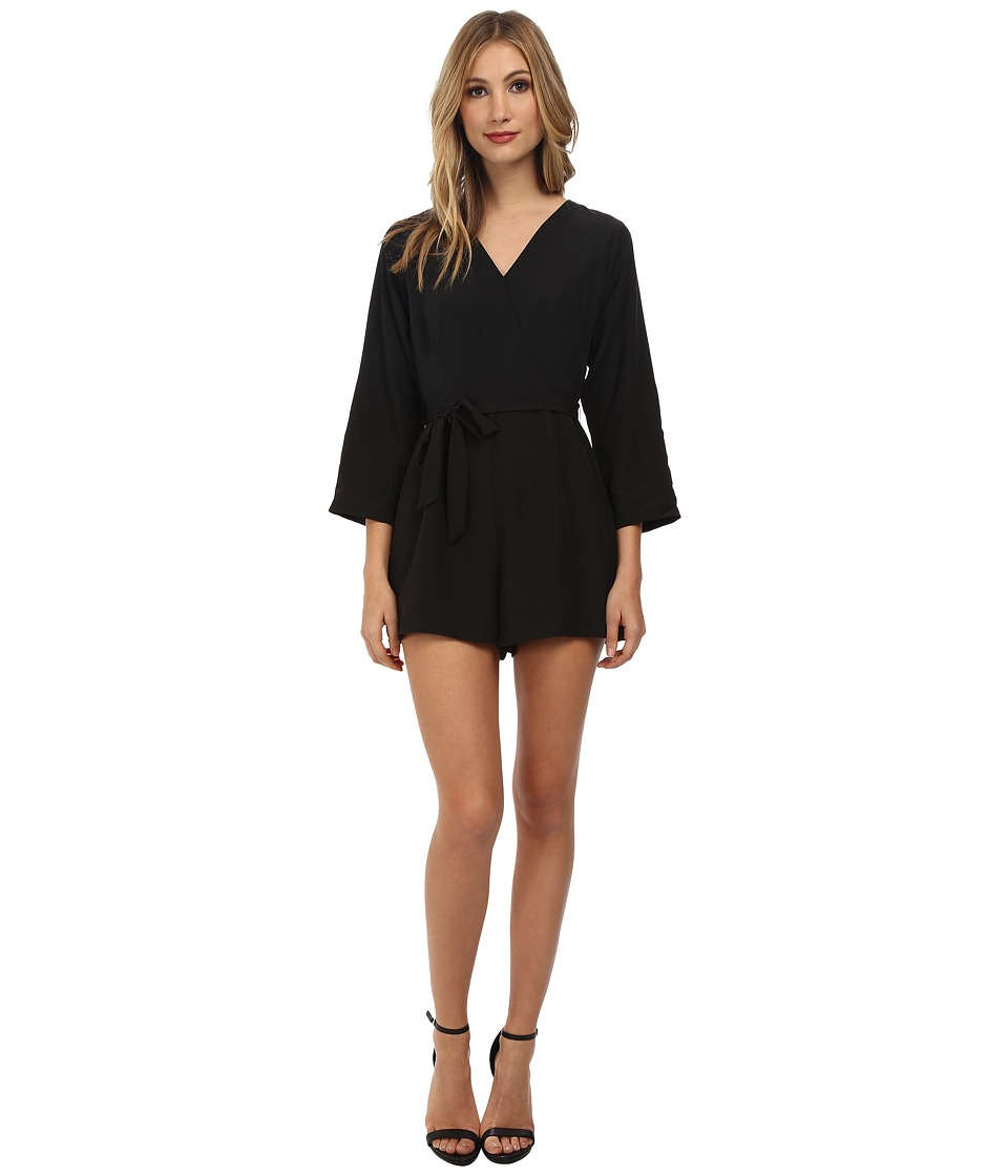 Jack by BB Dakota - Luther Crepon Romper (Black) Women