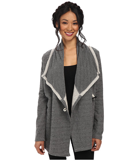 Jack by BB Dakota - Selina Diamond French Terry Jacket (Dark Heather Grey) Women's Sweater