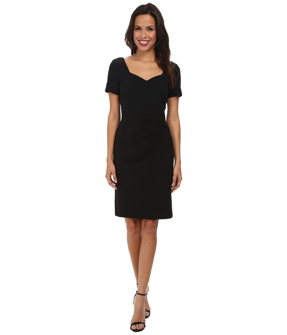 Adrianna Papell - Origami Folded Sheath Dress (Black) Women's Dress