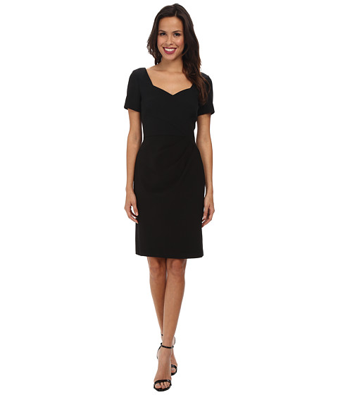Adrianna Papell - Origami Folded Sheath Dress (Black) Women's Dress