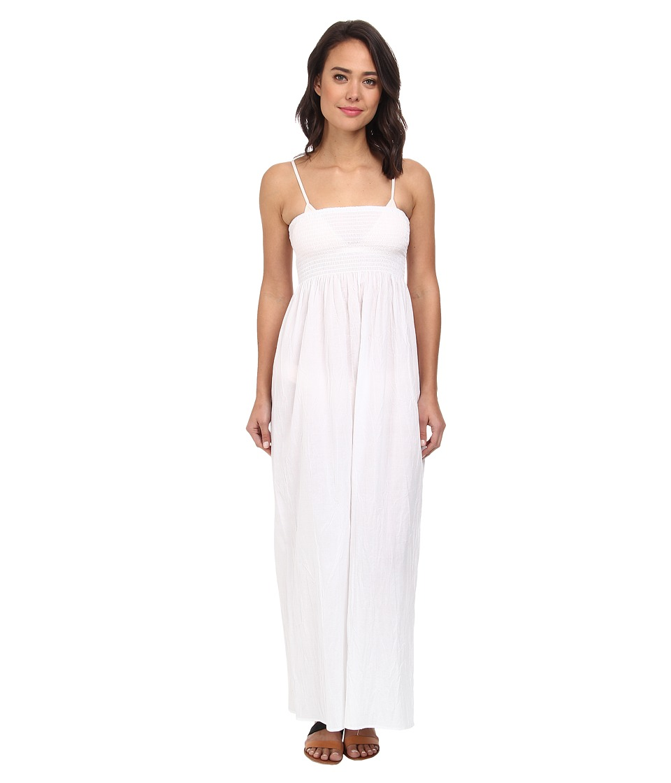 Tommy Bahama - Crinkle Smocked Long Dress Cover-Up (White) Women's Swimwear